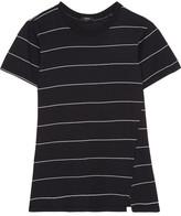 Bassike Striped Organic Cotton T-shirt - Black