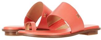 MICHAEL Michael Kors August Flat Sandal (Black) Women's Shoes