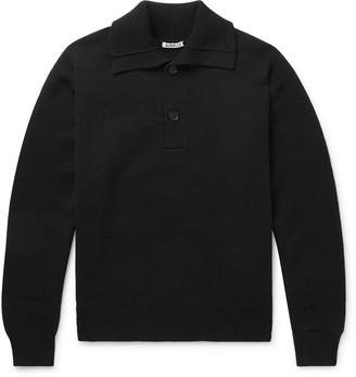 Auralee Merino Wool Polo Shirt