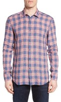 Robert Barakett Men's Finnegan Regular Fit Check Sport Shirt