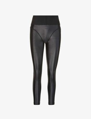 Good American Liquid Support high-rise stretch-sateen leggings