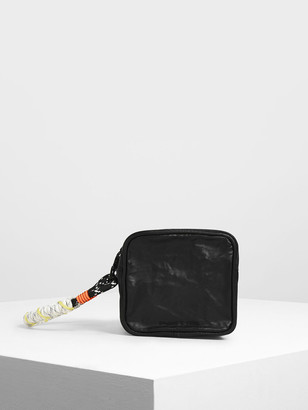 Charles & Keith Crumpled Effect Zipper Pouch
