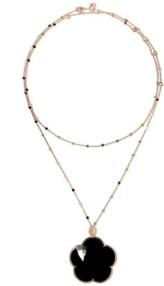 Pasquale Bruni 18kt rose gold Ton Joli diamond and onyx pendant necklace