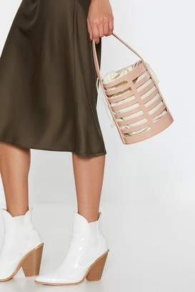 Nasty Gal Womens WANT Bucket In Faux Leather Drawstring Bag - pink - One Size