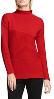 Vince Camuto Petite Women's Rib Knit Turtleneck Sweater