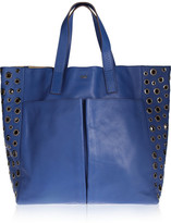Anya Hindmarch Raw Nevis eyelet-detailed leather tote