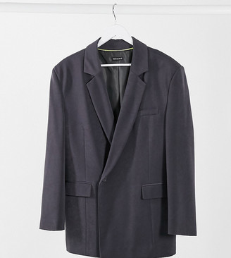 Collusion Unisex double-breasted blazer in charcoal
