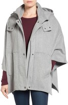 Halogen Snap Front Hooded Cape
