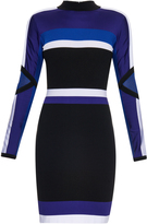 Versace Colour-block long-sleeved dress