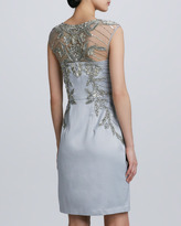 Sue Wong Beaded Embroidered Cocktail Dress