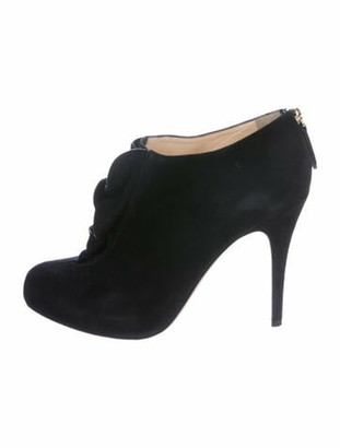 Valentino Suede Ankle Boots Black