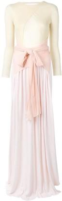 Esteban Cortazar Ribbon Drape Gown