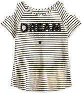 Epic Threads Striped Graphic Cold-Shoulder Top, Big Girls (7-16), Only at Macy's