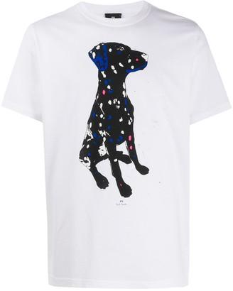 Paul Smith short sleeve dog print T-shirt