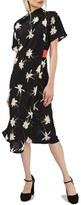 Topshop Women's Orchid Origami Drape Sheath Dress