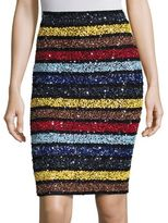 Alice + Olivia Ramos Sequin Striped Skirt