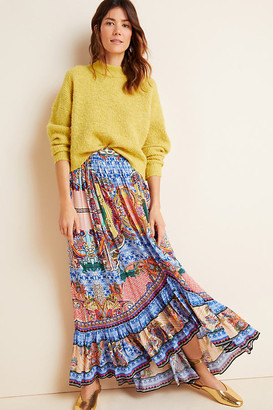 Allaire High-Low Maxi Skirt By Bhanuni by Jyoti in Blue Size 0