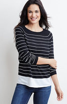 J. Jill Textured-Stripes Pullover