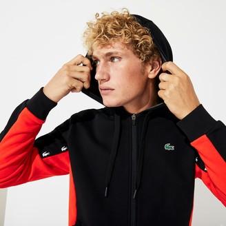 Lacoste Men's SPORT Two-Tone Fleece Hoody Sweatshirt