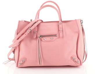 Balenciaga Papier A6 Zip Around Classic Studs Bag Leather