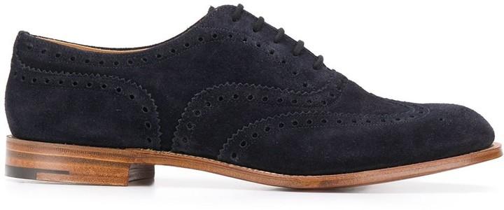 Mens Blue Suede Brogues | Shop the
