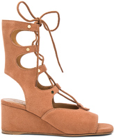 Chloé Suede Foster Wedge Sandals