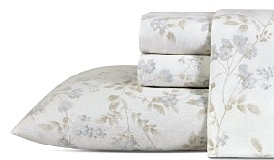 Laura Ashley Fawna Cotton Flannel Sheet Set, Twin