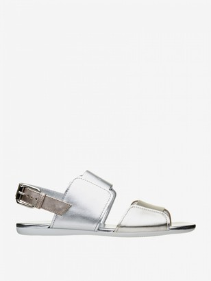 Hogan Sandal In Two-tone Laminated Leather