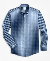 Brooks Brothers Stretch Milano Slim-Fit Sport Shirt, Non-Iron Gingham