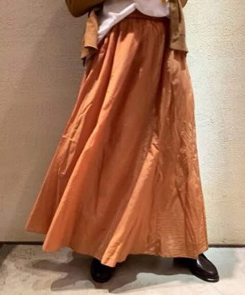 Journal Standard (ジャーナル スタンダード) - journal standard luxe 【POMANDERE/ポマンデール】 yarn dyed cotton silk skirt◆