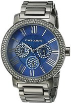 Vince Camuto Women's VC/5001NVGY Swarovski Crystal Accented Multi-Function Dial Gunmetal Bracelet Watch