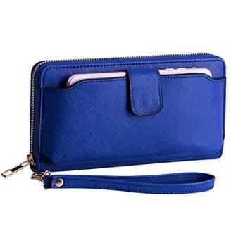 Heaye Wristlet Wallet with Cell Phone Holder for Iphone Ssmsung Women Wallet RFID Blocking Zip Around Wallet 8.3 x 4.3