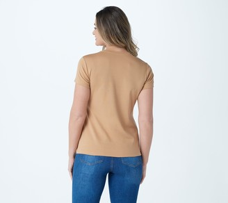 Isaac Mizrahi Live! Essentials Pima Cotton Favorite T-Shirt
