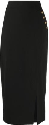 Pinko Button Detail Pencil Skirt