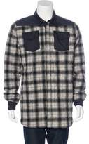 Off-White Quilted Flannel Shirt Jacket w/ Tags