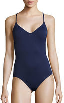 Vince Camuto Embroidered One-Piece Swimsuit