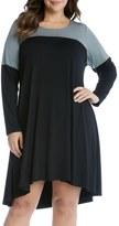 Karen Kane Plus Size Women's Maggie Colorblock Trapeze Dress