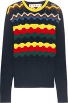 Marni Pointelle-knit Cotton-blend Sweater - IT42