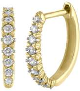 Ice Diamond 1/4ct Hoop Earrings in 10k Yellow Gold