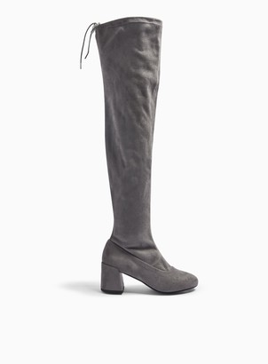 Miss Selfridge WIDE FIT OSLO Grey Over The Knee Boots