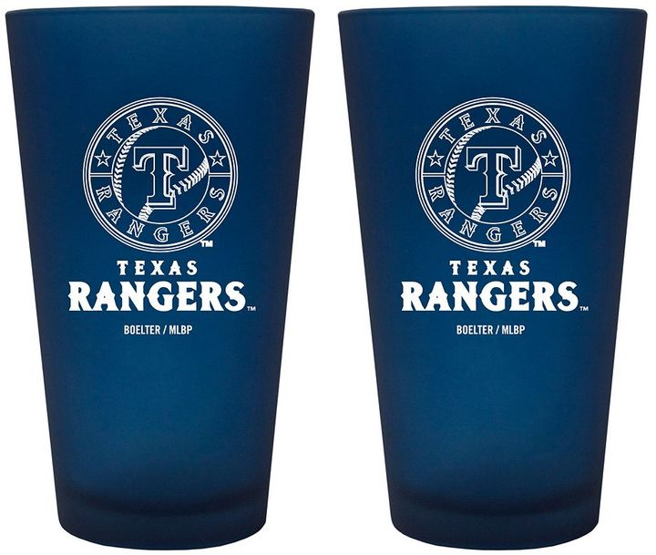 Texas Rangers 2-pc. Color Frosted Pint Glass Set