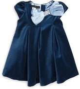 Biscotti Infant Girl's Vision In Velvet Bow Dress