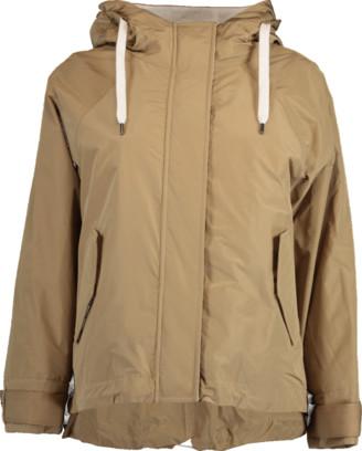 Brunello Cucinelli Short Hooded Taffeta Jacket