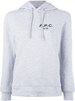 A.P.C. logo hooded sweatshirt