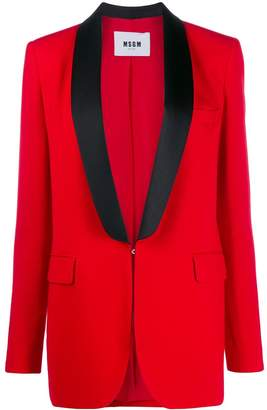 MSGM tuxedo style single-breasted blazer