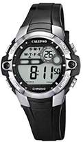 Calypso Unisex Digital Watch with LCD Dial Digital Display and Black Plastic Strap K5617/6