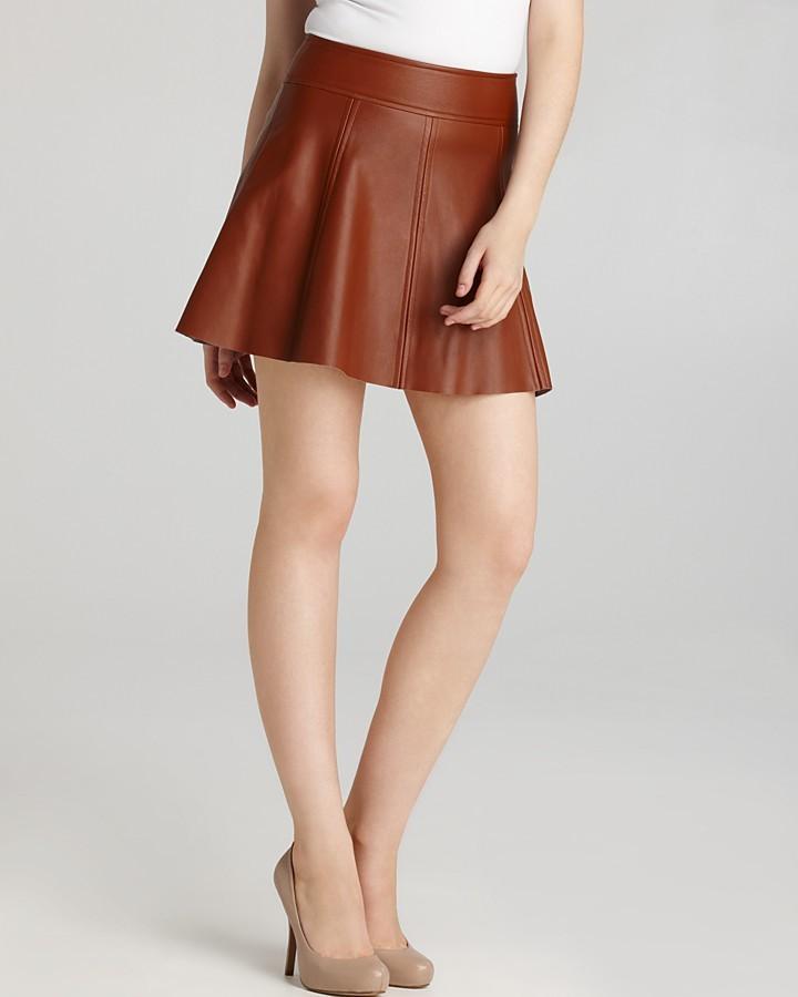 Patterson J. Kincaid PJK Leather Skirt - Polly Flirty