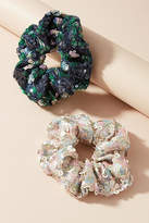 Anthropologie Sequin Pony Holder Set