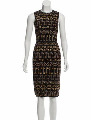 Dolce & Gabbana Printed Midi Dress Black