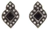 Cathy Waterman Blue Sapphire Arabesque Stud Earrings